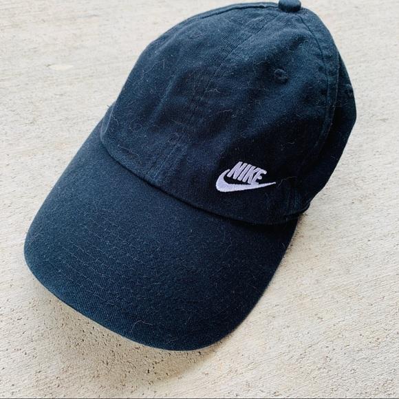 689c03ed5 Solid Black Nike Adjustable Hat